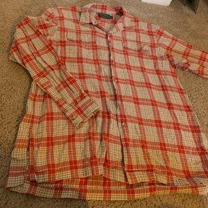 Ralph Lauren Red Button Down Flannel